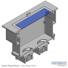 Quick Dump Rinser Cut Away View
